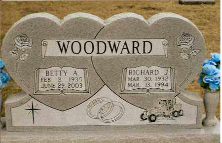 WOODWARD, RICHARD J. - Keya Paha County, Nebraska | RICHARD J. WOODWARD - Nebraska Gravestone Photos