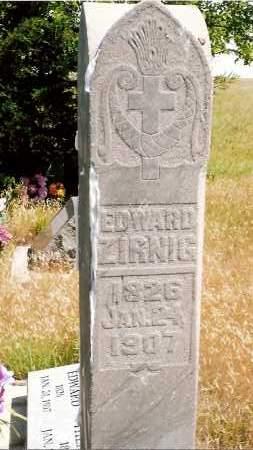 ZIRNIG, EDWARD - Keya Paha County, Nebraska | EDWARD ZIRNIG - Nebraska Gravestone Photos