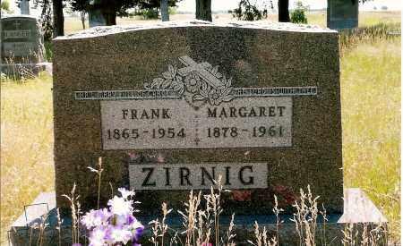 ZIRNIG, MARGARET - Keya Paha County, Nebraska   MARGARET ZIRNIG - Nebraska Gravestone Photos