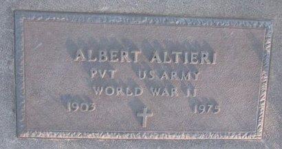 ALTIERI, ALBERT - Knox County, Nebraska   ALBERT ALTIERI - Nebraska Gravestone Photos