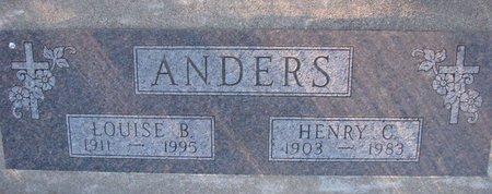 ANDERS, HENRY C. - Knox County, Nebraska   HENRY C. ANDERS - Nebraska Gravestone Photos