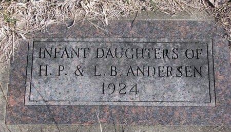 ANDERSEN, INFANT DAUGHTERS - Knox County, Nebraska | INFANT DAUGHTERS ANDERSEN - Nebraska Gravestone Photos