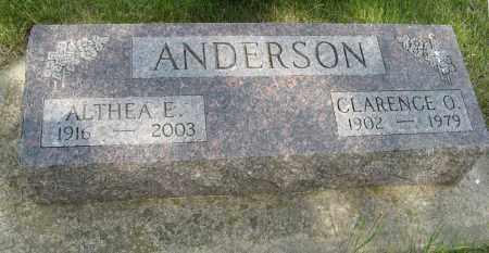 ANDERSON, ALTHEA E. - Knox County, Nebraska | ALTHEA E. ANDERSON - Nebraska Gravestone Photos
