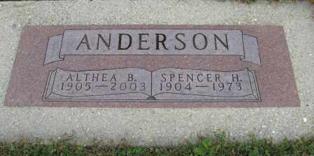 ANDERSON, SPENCER H. - Knox County, Nebraska | SPENCER H. ANDERSON - Nebraska Gravestone Photos