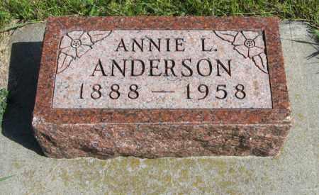 ANDERSON, ANNIE L. - Knox County, Nebraska   ANNIE L. ANDERSON - Nebraska Gravestone Photos