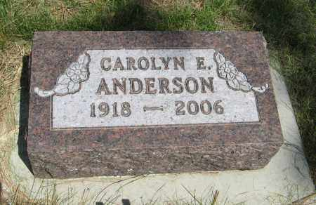 ANDERSON, CAROLYN E. - Knox County, Nebraska | CAROLYN E. ANDERSON - Nebraska Gravestone Photos