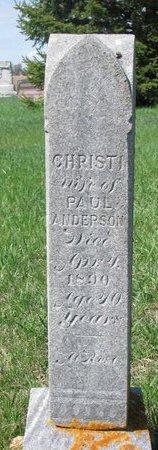 ANDERSON, CHRISTI - Knox County, Nebraska | CHRISTI ANDERSON - Nebraska Gravestone Photos