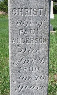 ANDERSON, CHRISTI (CLOSE UP) - Knox County, Nebraska | CHRISTI (CLOSE UP) ANDERSON - Nebraska Gravestone Photos
