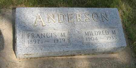 ANDERSON, FRANCIS M. - Knox County, Nebraska | FRANCIS M. ANDERSON - Nebraska Gravestone Photos