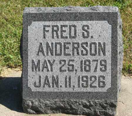 ANDERSON, FRED S. - Knox County, Nebraska | FRED S. ANDERSON - Nebraska Gravestone Photos