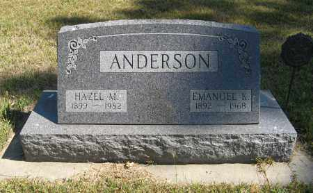 ANDERSON, EMANUEL K. - Knox County, Nebraska | EMANUEL K. ANDERSON - Nebraska Gravestone Photos