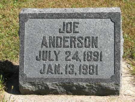 ANDERSON, JOE - Knox County, Nebraska   JOE ANDERSON - Nebraska Gravestone Photos