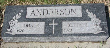 ANDERSON, BETTY J. - Knox County, Nebraska | BETTY J. ANDERSON - Nebraska Gravestone Photos