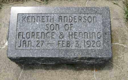ANDERSON, KENNETH - Knox County, Nebraska   KENNETH ANDERSON - Nebraska Gravestone Photos