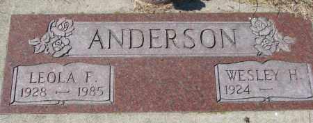 ANDERSON, LEOLA F. - Knox County, Nebraska   LEOLA F. ANDERSON - Nebraska Gravestone Photos