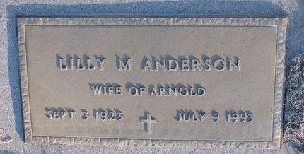 ANDERSON, LILLY M. - Knox County, Nebraska | LILLY M. ANDERSON - Nebraska Gravestone Photos