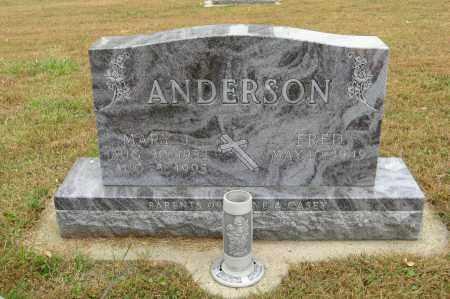 ANDERSON, MARY J. - Knox County, Nebraska | MARY J. ANDERSON - Nebraska Gravestone Photos