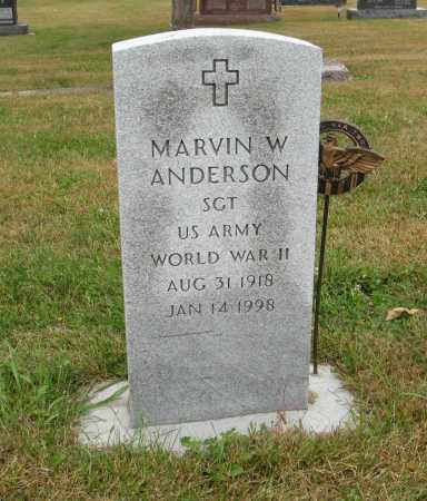 ANDERSON, MARVIN W. (MILITARY MARKER) - Knox County, Nebraska   MARVIN W. (MILITARY MARKER) ANDERSON - Nebraska Gravestone Photos