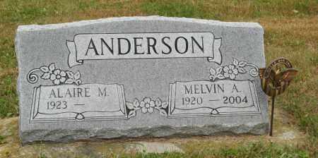 ANDERSON, MELVIN A. - Knox County, Nebraska | MELVIN A. ANDERSON - Nebraska Gravestone Photos