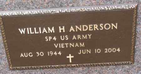 ANDERSON, WILLIAM H. (MILITARY) - Knox County, Nebraska | WILLIAM H. (MILITARY) ANDERSON - Nebraska Gravestone Photos