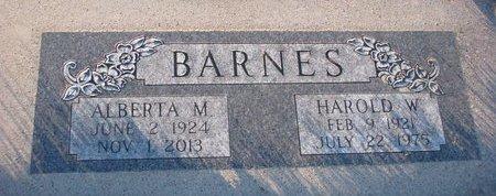 BARNES, HAROLD W. - Knox County, Nebraska | HAROLD W. BARNES - Nebraska Gravestone Photos