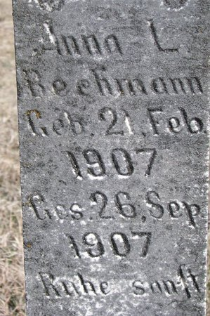 BECHMANN, ANNA L. (CLOSE UP) - Knox County, Nebraska | ANNA L. (CLOSE UP) BECHMANN - Nebraska Gravestone Photos