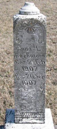 BECHMANN, ANNA L. - Knox County, Nebraska | ANNA L. BECHMANN - Nebraska Gravestone Photos