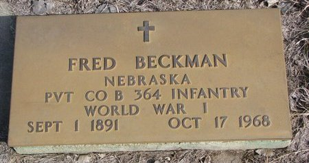 BECKMAN, FRED - Knox County, Nebraska | FRED BECKMAN - Nebraska Gravestone Photos