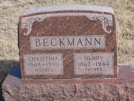 BECKMANN, CHRISTINA - Knox County, Nebraska | CHRISTINA BECKMANN - Nebraska Gravestone Photos