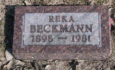 "BECKMANN, CHRISTINE S. ""REKA"" - Knox County, Nebraska   CHRISTINE S. ""REKA"" BECKMANN - Nebraska Gravestone Photos"