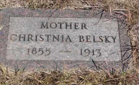 BELSKY, CHRISTINA - Knox County, Nebraska | CHRISTINA BELSKY - Nebraska Gravestone Photos