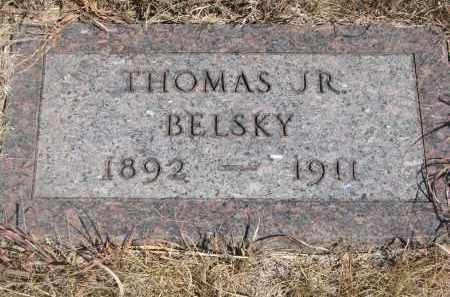 BELSKY, THOMAS JR. - Knox County, Nebraska | THOMAS JR. BELSKY - Nebraska Gravestone Photos