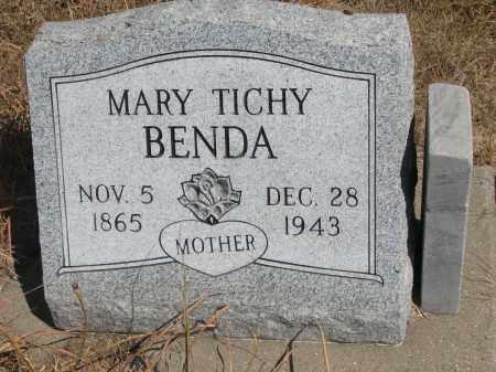 BENDA, MARY - Knox County, Nebraska | MARY BENDA - Nebraska Gravestone Photos