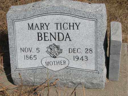BENDA, MARY - Knox County, Nebraska | MARY BENDA - Nebraska Gravestone Photos