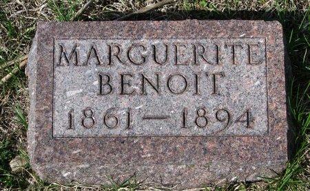 BENOIT, MARGUERITE - Knox County, Nebraska | MARGUERITE BENOIT - Nebraska Gravestone Photos
