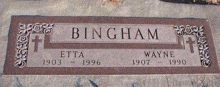 BINGHAM, WAYNE - Knox County, Nebraska | WAYNE BINGHAM - Nebraska Gravestone Photos