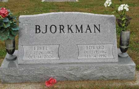 BJORKMAN, ETHEL - Knox County, Nebraska   ETHEL BJORKMAN - Nebraska Gravestone Photos