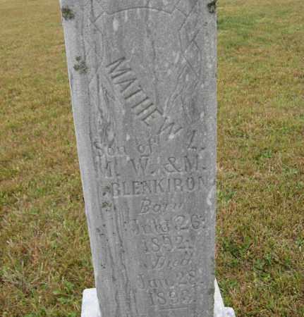 BLENKIRON, MATHEW L. (CLOSE UP) - Knox County, Nebraska | MATHEW L. (CLOSE UP) BLENKIRON - Nebraska Gravestone Photos