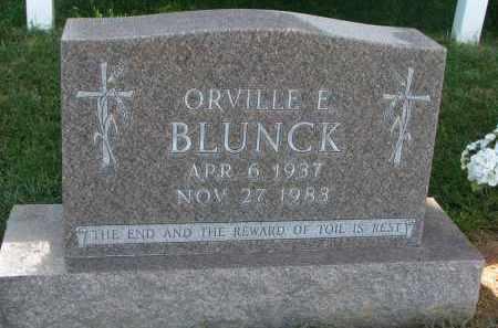 BLUNCK, ORVILLE E. - Knox County, Nebraska | ORVILLE E. BLUNCK - Nebraska Gravestone Photos