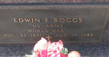 BOGGS, EDWIN E. (MILITARY) - Knox County, Nebraska | EDWIN E. (MILITARY) BOGGS - Nebraska Gravestone Photos