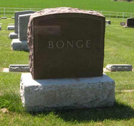 BONGE, (FAMILY MONUMENT) - Knox County, Nebraska | (FAMILY MONUMENT) BONGE - Nebraska Gravestone Photos