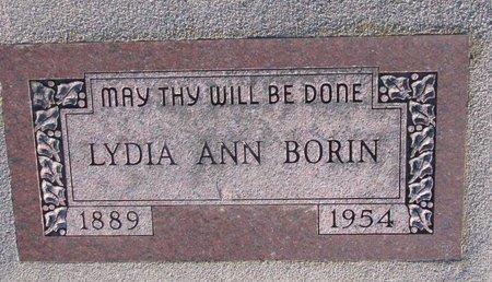 WOODS BORIN, LYDIA ANN - Knox County, Nebraska   LYDIA ANN WOODS BORIN - Nebraska Gravestone Photos