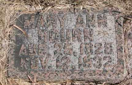 BOURN, MARY ANN - Knox County, Nebraska | MARY ANN BOURN - Nebraska Gravestone Photos