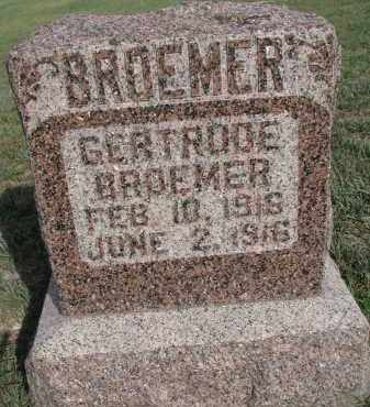 BROEMER, GERTRUDE - Knox County, Nebraska | GERTRUDE BROEMER - Nebraska Gravestone Photos