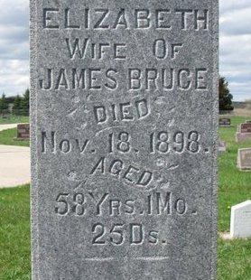 BRUCE, ELIZABETH (CLOSE UP) - Knox County, Nebraska | ELIZABETH (CLOSE UP) BRUCE - Nebraska Gravestone Photos