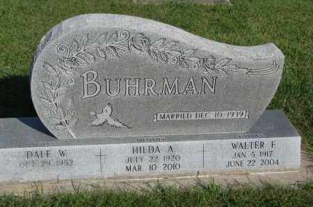BUHRMAN, WALTER F. - Knox County, Nebraska   WALTER F. BUHRMAN - Nebraska Gravestone Photos