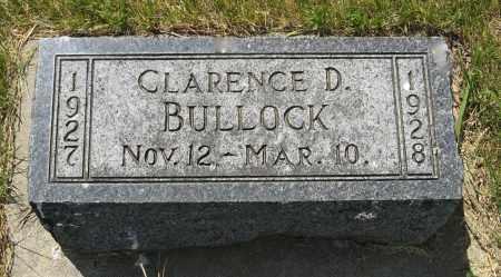BULLOCK, CLARENCE D. - Knox County, Nebraska | CLARENCE D. BULLOCK - Nebraska Gravestone Photos