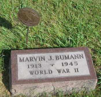 BUMANN, MARVIN J. - Knox County, Nebraska | MARVIN J. BUMANN - Nebraska Gravestone Photos