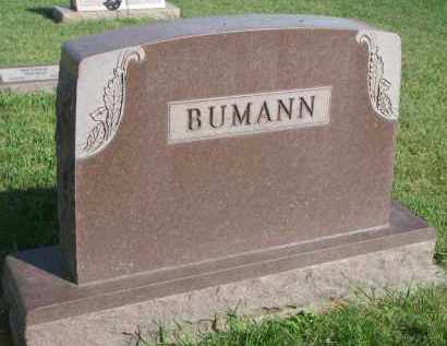 BUMANN, PLOT STONE - Knox County, Nebraska   PLOT STONE BUMANN - Nebraska Gravestone Photos