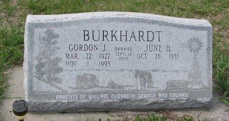 BURKHARDT, JUNE H. - Knox County, Nebraska | JUNE H. BURKHARDT - Nebraska Gravestone Photos